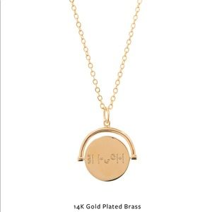 Lulu Dk 'Blessed' Love Code Necklace